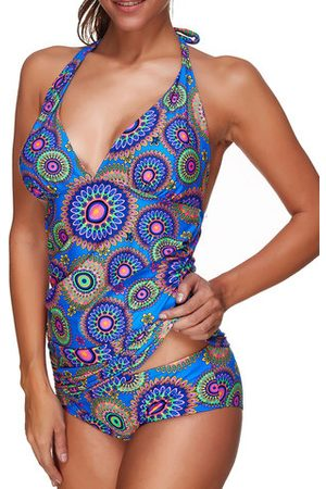 Newchic Comfy Soft Print Backless One-Pieces Swimwear