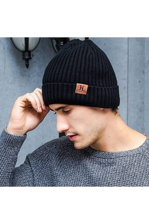 Newchic Men's Winter Patchwork Knitted Caps