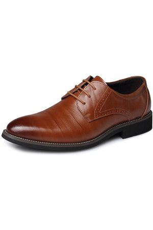 Newchic Men Large Size Cow Leather Formals Business Shoes