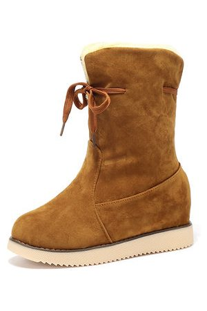 Newchic Women Snow Boots - Two Ways Wearing Snow Boots
