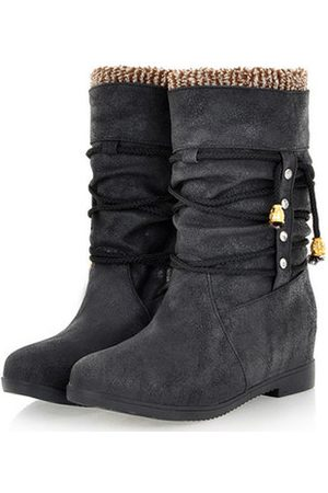 Newchic Plus Size Slip On Thermal Plush Ankle Boots For Women