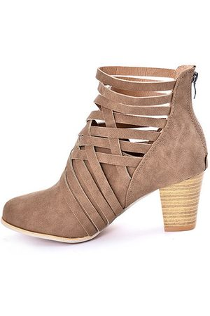 Newchic Hollow High Heel Ankle Boots For Women