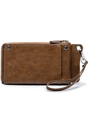 Newchic Vintage Waterproof Casual Long Phone Bag Wallet For Men