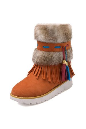 Newchic Plus Size Chinese Style Tassels Winter Snow Boots For Women