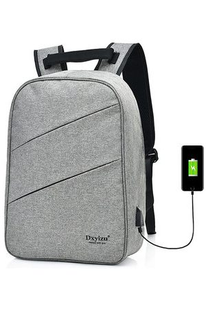 Newchic Men USB Charging 15.6″ Laptop Bag Business Travel Backpack
