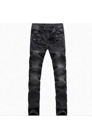 Newchic Fold Slim Fit straight jeans