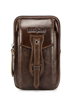 Newchic EKPHERO Vintage Leather Business Casual Waist Bag Phone Bag