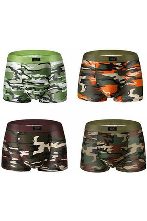 Newchic Camouflage Printing Casual Sexy Underwear Modal Soft Breathable U Convex Boxers For Men