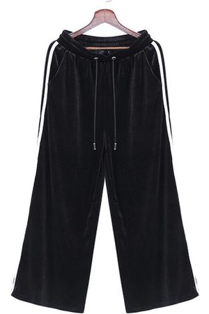 Newchic Elastic Waist Lacing Wide Legs Pants