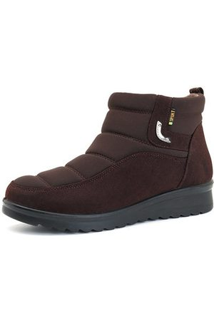 Newchic Women Ankle Boots - Stitching Warm Fur Winter Ankle Snow Boots