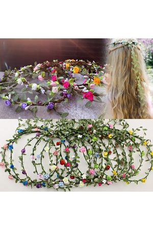 Newchic Girls Hair Accessories - Women Lady Girl Floral Festival Wedding Garland Hair Head Band
