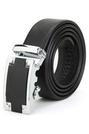 Newchic First Layer Cowhide Leather Adjustable Automatic Buckle Men's Waist Belt Strip
