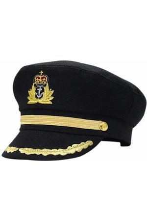 Newchic Black Sailor Captain Officer Stag Night Nautical Fancy Dress Hat