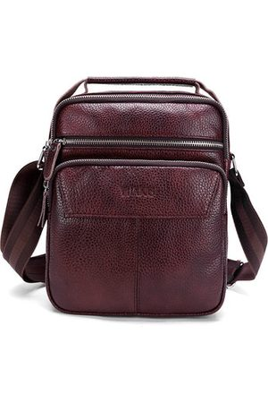 Newchic Men Laptop Bags - Genuine Leather Business Handbag Shoulder Crossbody Bag