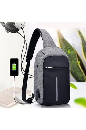Newchic Women Men USB Charing Port Anti Theft Chest Bag