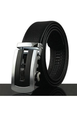 Newchic Mens Business Luxury Strap Cowhide Leather Belt Casual Automatic Buckle High Quality Leather Belt