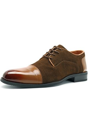 Newchic Men Formal Shoes - Men Large Size Pointed Toe Cow Leather Business Shoes