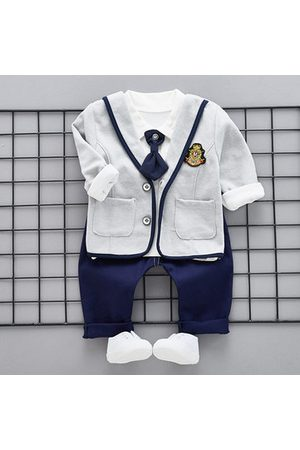 Newchic 3Pcs Newborn Baby Boys Outfits Clothes Set