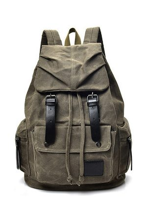 Newchic Men Rucksacks - Vintage Canvas Casual Waterproof Outdoor Travel Backpack