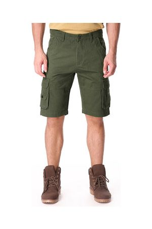 Newchic Men Cargo Pants - Mens Plus Size Multi-pockets Military Shorts Cotton Loose Fit Casual Cargo Shorts