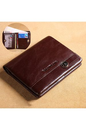 Newchic Men Laptop Bags - Vintage Genuine Leather Business Short Wallet For Men