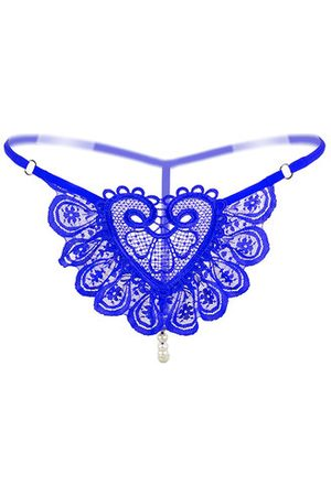 Newchic Lace Embroidery Pearl Massage Thong