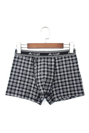 Newchic Plaids Printing Loose Boxers