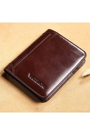 Newchic Men Wallets - Genuine Leather Short Bifold Mini Wallet For Men