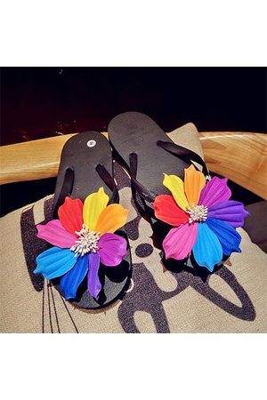 Newchic Eight Color Flower Clip Toe Beach Flat Flip Flops