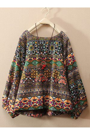 Newchic Women Long sleeves - Vintage Floral Printed Long Sleeve Shirt
