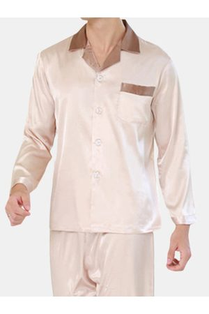 Newchic Men Pyjamas - Mens Faux Silk Sleepwear