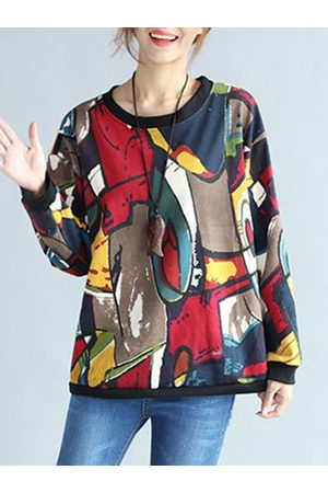 Newchic Casual Loose Printed Long Sleeves Shirt
