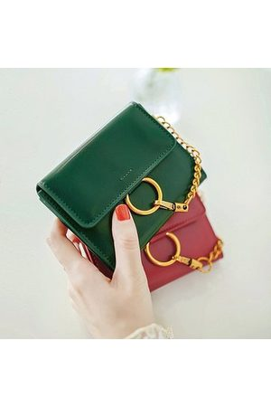Newchic Women Trifold Solid Short Wallet Coin Bags Vintage Purse