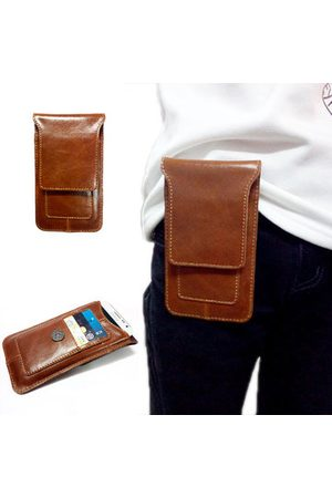 Newchic Genuine Leather Waist Bag 3 Card Holders Casual Outdoor Hanging Bag For Men