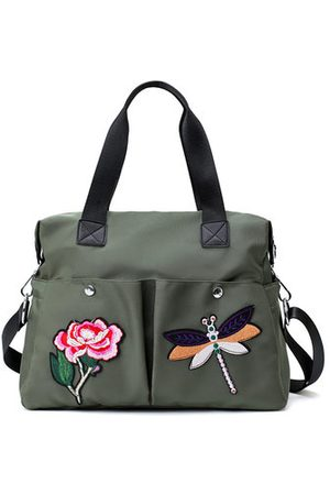 Newchic Women Shoulder Bags - Dragonfly Embroidery Tote Bag