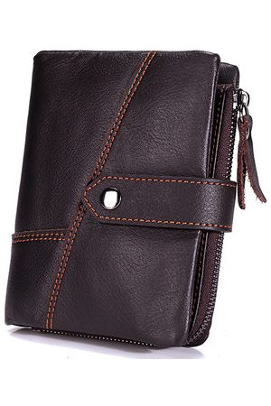 Newchic 13 Card Holders Genuine Leather Casual Hasp Coin Bag Wallet For Men