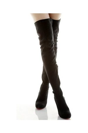 Newchic Women Knee High Boots - Fashion Folded Suede Over The Knee Boots