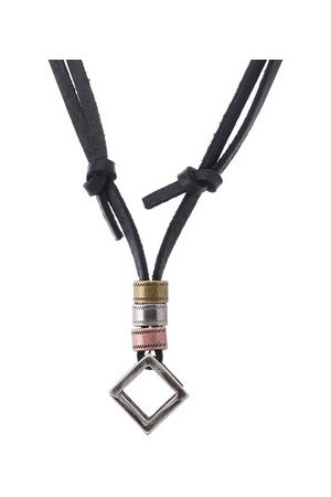 Newchic Men Necklaces - Punk Leather Adjustable Necklace