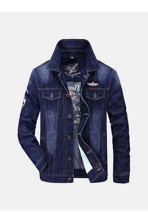Newchic Mens Letter Printing Jacket