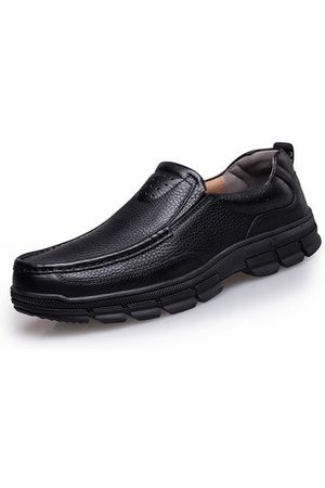 Newchic Men Casual Shoes - Large Size Men Genuiner Leather Business Casual Shoes