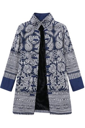 Newchic Ethnic Printed Thicken Coats