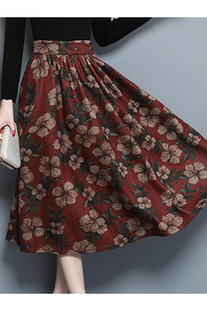 Newchic Casual Printed Pocket Skirts