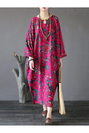 Newchic Floral Printed Vintage Maxi Dresses