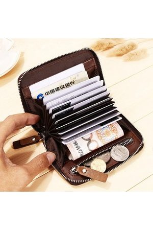 Newchic Genuine Leather Driver License Coin Bag Card Holder Wallet