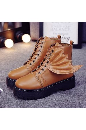Newchic Women Ankle Boots - Cool Little Devil Wing Ankle Boots For Women