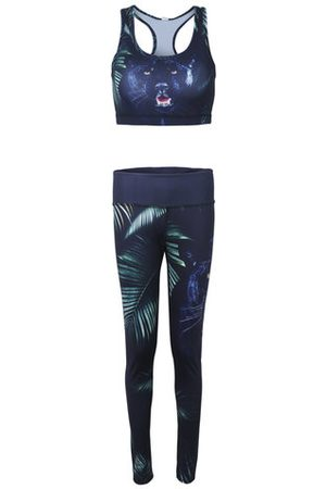 Newchic Women Tracksuits - Women 3D Animal Printed Stretch Sport Tracksuits