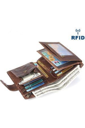 Newchic Genuine Leather Vintage Multi-card Slots Trifold Wallet