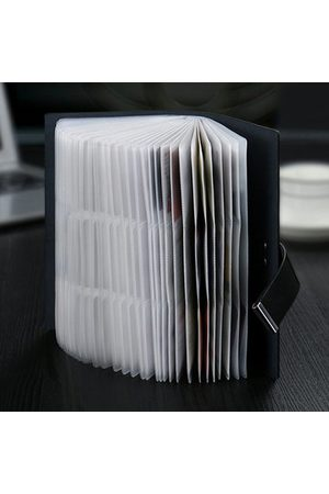 Newchic Men Genuine Leather Business 62 105 Card Slots Card Holder
