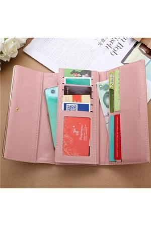 Newchic New Simple Women Leather Credit Card Long Wallet