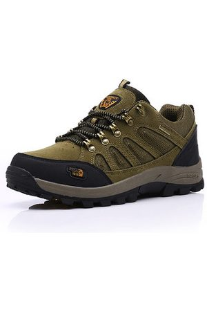 Newchic Men Suede Wear-resistant Lace Up Outdoor Casual Sneakers